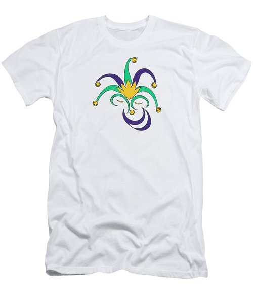 Mardi Gras Jester Men's T-Shirt (Slim Fit) by Alycia Christine