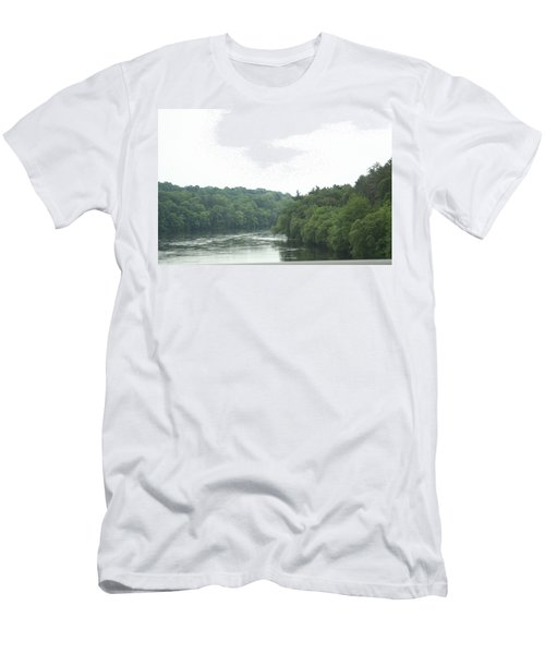 Mighty Merrimack River Men's T-Shirt (Slim Fit) by Barbara S Nickerson