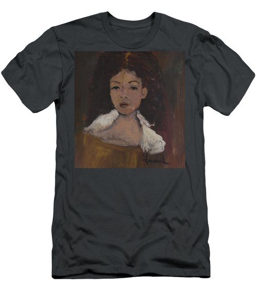 Men's T-Shirt (Slim Fit) featuring the painting Autumn Walking by Laurie L