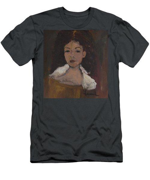 Autumn Walking Men's T-Shirt (Slim Fit) by Laurie L