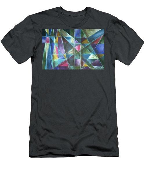 Light Patterns 2 Men's T-Shirt (Athletic Fit)