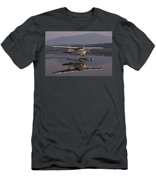 Reflections Of A Float Plane Men's T-Shirt (Slim Fit) by Darcy Michaelchuk