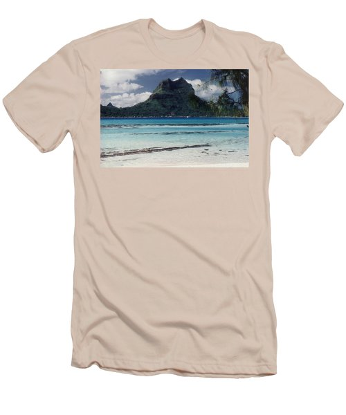 Men's T-Shirt (Slim Fit) featuring the photograph Bora Bora by Mary-Lee Sanders