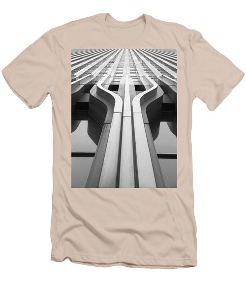 Look Up A Twin Tower Men's T-Shirt (Slim Fit) by Darcy Michaelchuk
