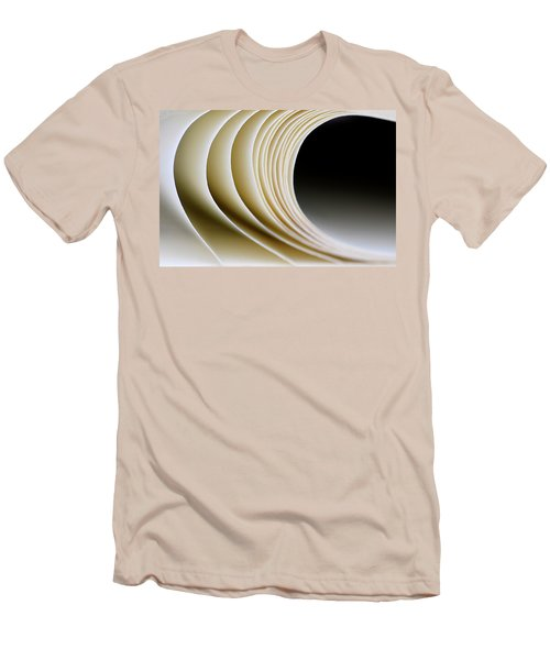 Men's T-Shirt (Slim Fit) featuring the photograph Paper Curl by Pedro Cardona