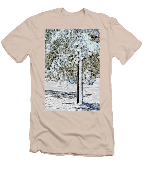 Snowy Tree Men's T-Shirt (Athletic Fit)