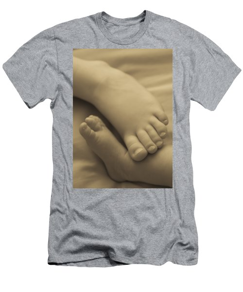 Toes Of Different Size Men's T-Shirt (Slim Fit) by Darcy Michaelchuk