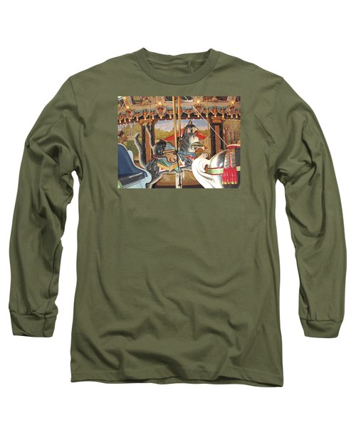 Long Sleeve T-Shirt featuring the photograph Philadelphia Style Cats by Barbara McDevitt