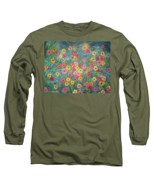 A Field Of Flowers Long Sleeve T-Shirt by John Keaton