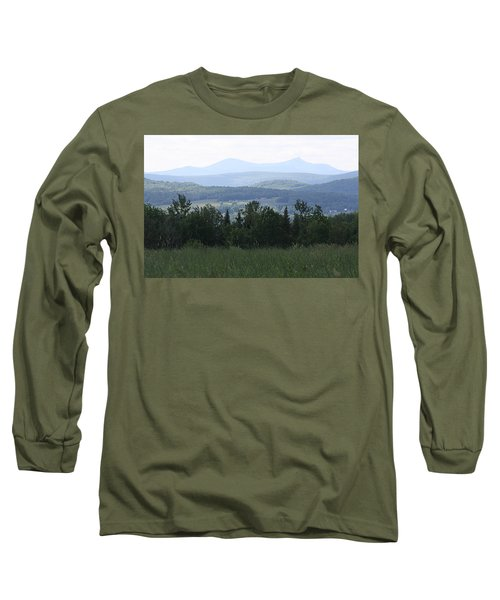 Jay Peak From Irasburg Long Sleeve T-Shirt