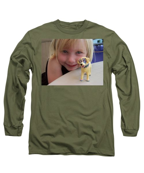 Lacey's Face Painted Dog Long Sleeve T-Shirt