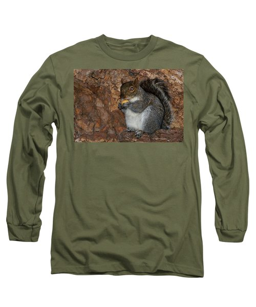 Long Sleeve T-Shirt featuring the photograph Squirrell by Pedro Cardona