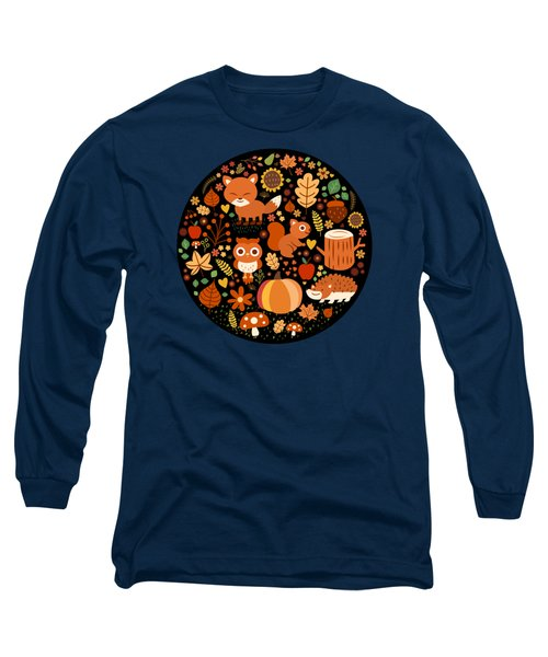 Autumn Party For Forest Friends Long Sleeve T-Shirt