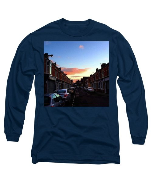 Cartoon Skies Over Middlesbrough Today Long Sleeve T-Shirt