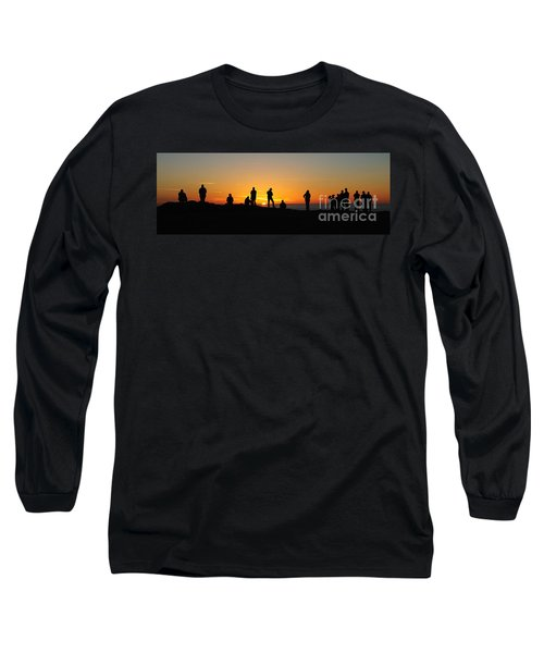 Long Sleeve T-Shirt featuring the photograph Panorama Everyone Likes A Sunset by Vivian Christopher