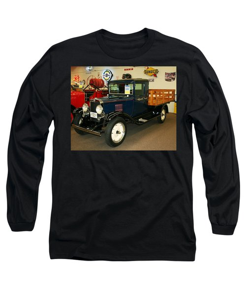 1930 Chevrolet Stake Bed Truck Long Sleeve T-Shirt by John Black