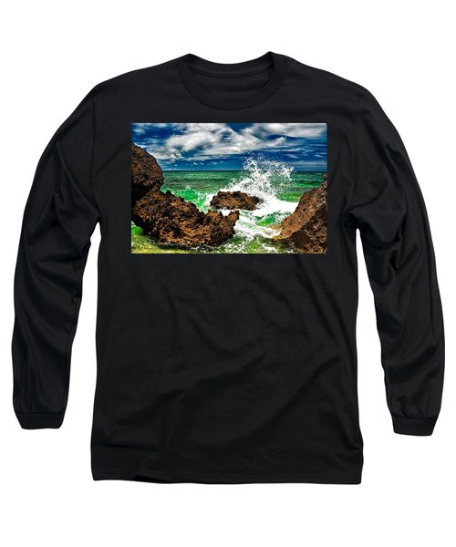 Blue Meets Green Long Sleeve T-Shirt by Christopher Holmes