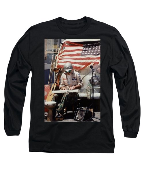 Long Sleeve T-Shirt featuring the photograph Born In The Usa by Mary-Lee Sanders