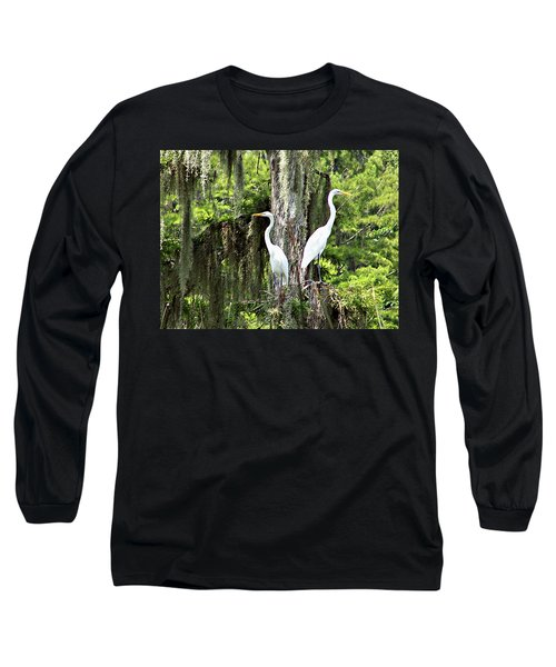 Great White Egrets Long Sleeve T-Shirt