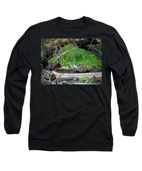 Heron Habitat Long Sleeve T-Shirt by Sue Stefanowicz
