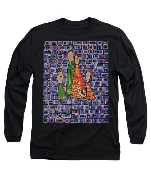 Long Sleeve T-Shirt featuring the painting One Of Each by Donna Howard