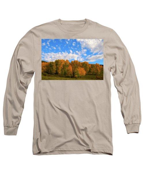 Long Sleeve T-Shirt featuring the photograph Aspens by Steve Stuller