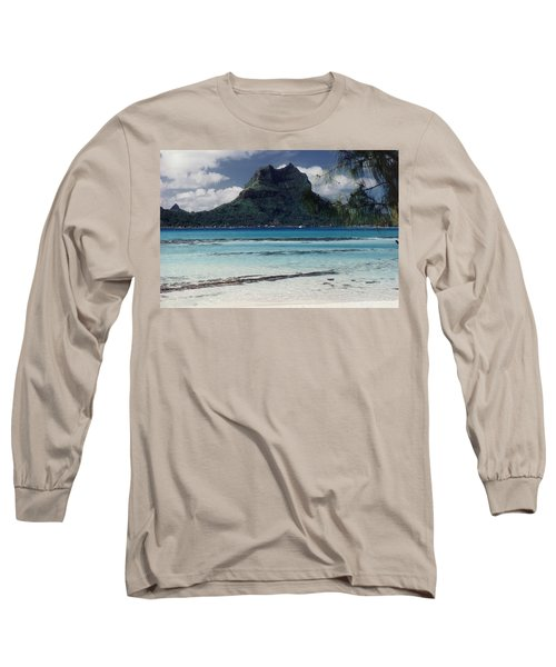 Long Sleeve T-Shirt featuring the photograph Bora Bora by Mary-Lee Sanders