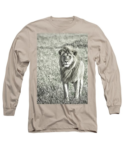 The King Stands Tall Long Sleeve T-Shirt by Darcy Michaelchuk