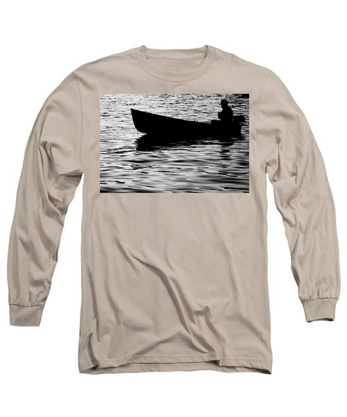 Long Sleeve T-Shirt featuring the photograph The Old Fishermen by Pedro Cardona
