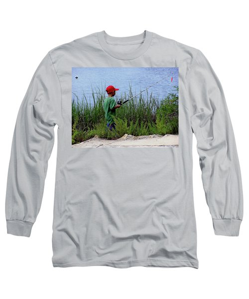 Fishing At Hickory Mound Long Sleeve T-Shirt