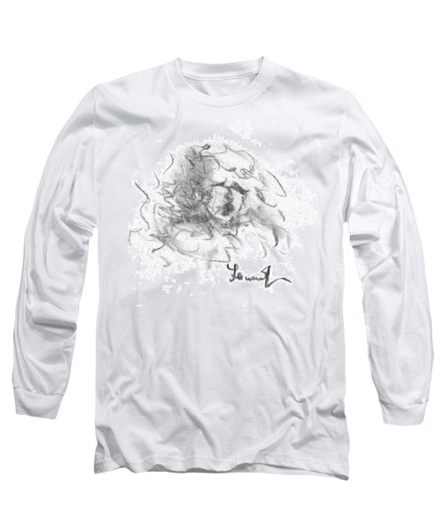 Long Sleeve T-Shirt featuring the drawing Question Of The Heart by Laurie L