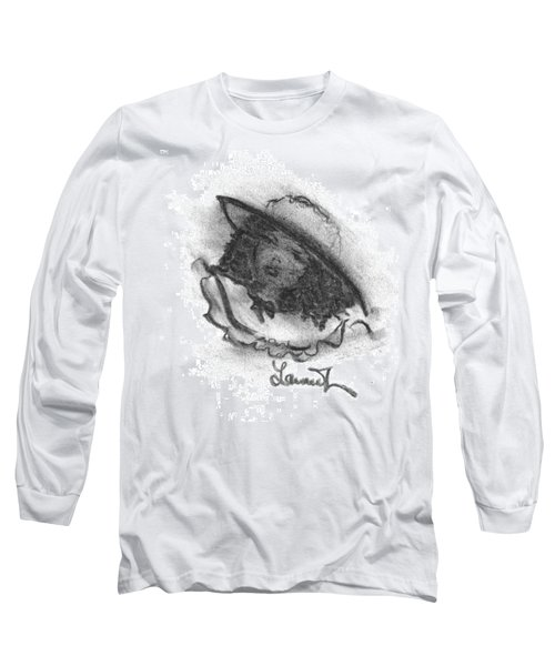 Long Sleeve T-Shirt featuring the drawing Shades Of Sunday by Laurie L