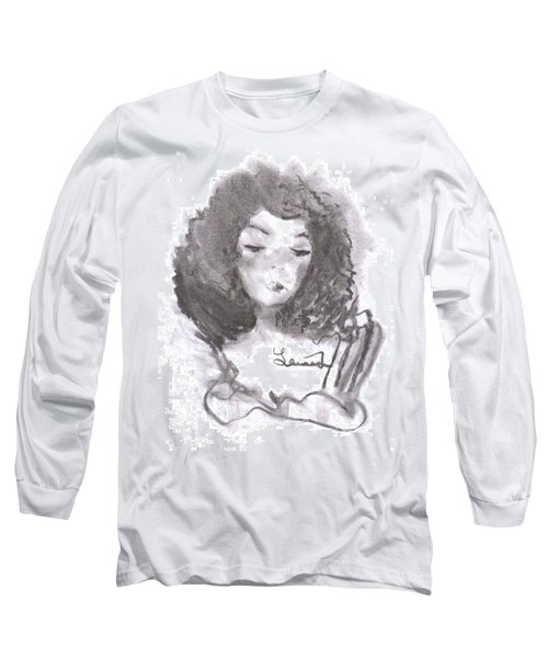 Long Sleeve T-Shirt featuring the drawing Shades Of Yellow by Laurie L