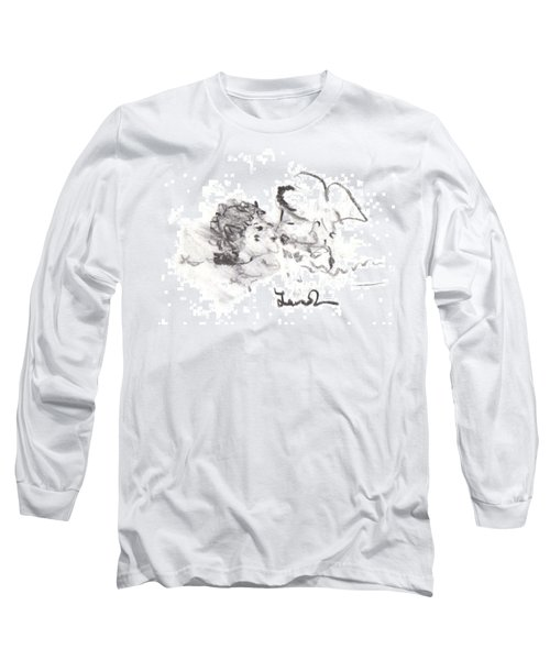 Long Sleeve T-Shirt featuring the drawing Timeless Love by Laurie L