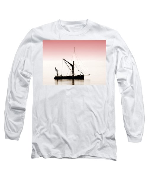 Coble Sailing  Against Pint Sky Long Sleeve T-Shirt