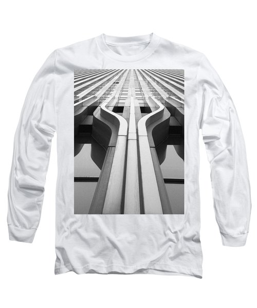Look Up A Twin Tower Long Sleeve T-Shirt by Darcy Michaelchuk