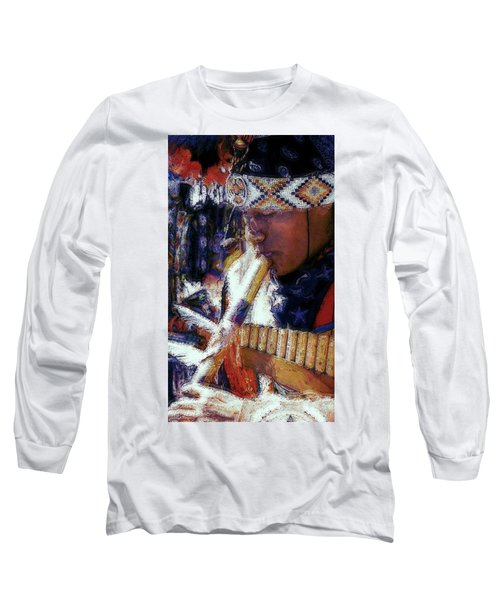 Long Sleeve T-Shirt featuring the photograph Mexican Street Musician by Lori Seaman