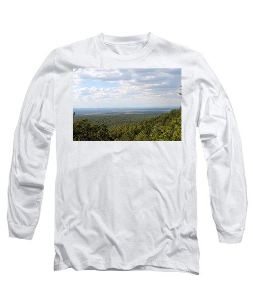 Overlooking Pinetop Long Sleeve T-Shirt by Pamela Walrath