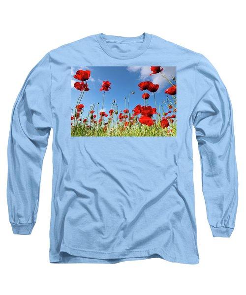 Poppies Season Long Sleeve T-Shirt