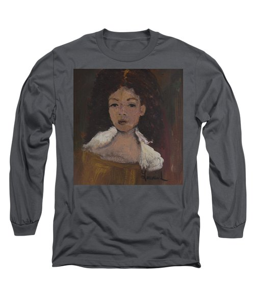 Long Sleeve T-Shirt featuring the painting Autumn Walking by Laurie L