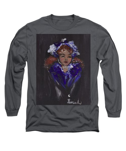 Lil Girl Blue Long Sleeve T-Shirt by Laurie L