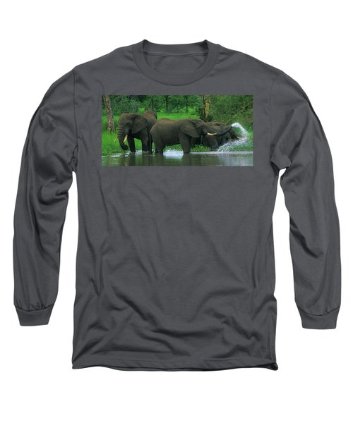 Elephant Shower Long Sleeve T-Shirt
