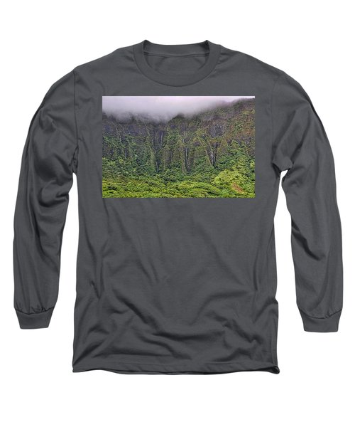 Ko'olau Waterfalls Long Sleeve T-Shirt by Dan McManus