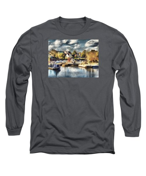 Long Sleeve T-Shirt featuring the digital art Riverview V by Leigh Kemp