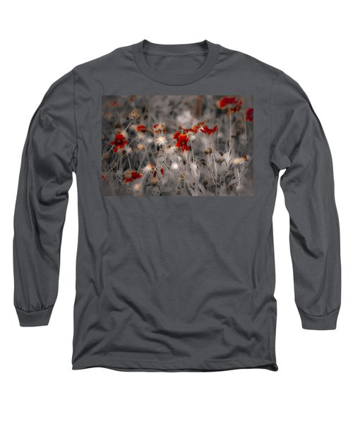 Wildflowers Of The Dunes Long Sleeve T-Shirt by DigiArt Diaries by Vicky B Fuller