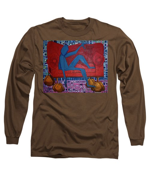 Long Sleeve T-Shirt featuring the painting Am I Blue by Donna Howard