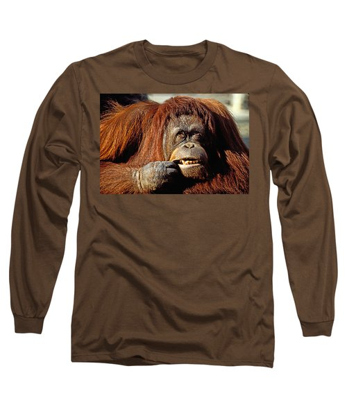 Orangutan  Long Sleeve T-Shirt by Garry Gay