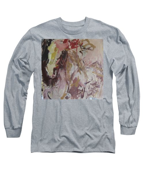 Long Sleeve T-Shirt featuring the painting Abstract Horse  by Robert Joyner