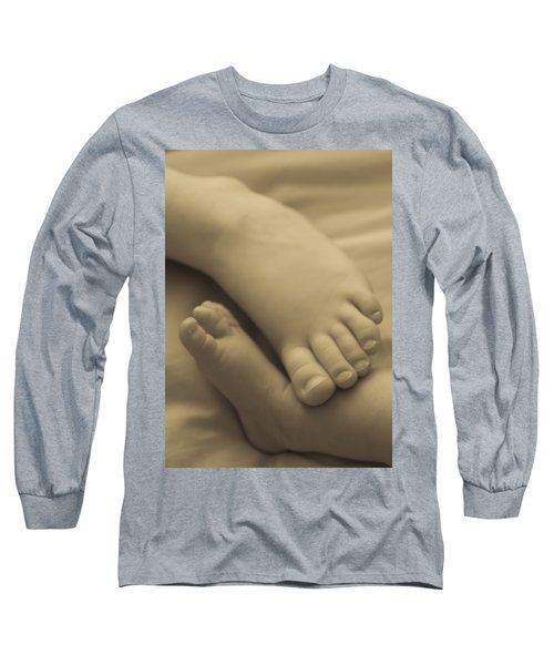 Toes Of Different Size Long Sleeve T-Shirt by Darcy Michaelchuk