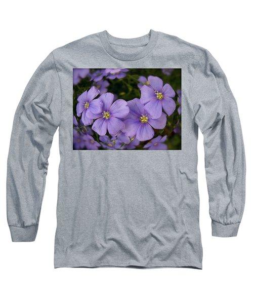 Vinca Under Glass Long Sleeve T-Shirt by Sue Stefanowicz